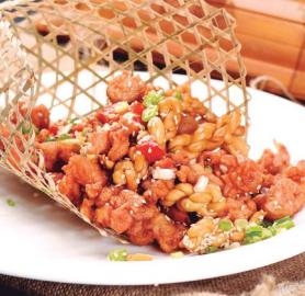 cucurucho de pollo al sesamo